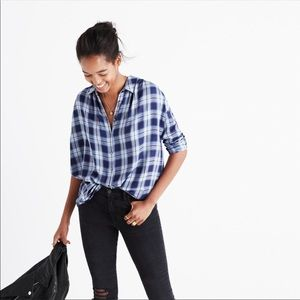 Madewell Central Lansford Plaid Long-Sleeve Shirt